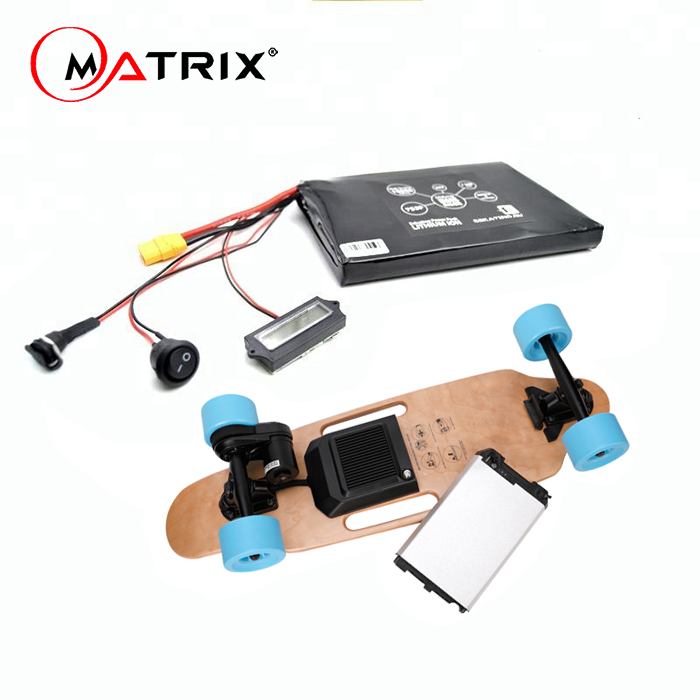 electric skateboard removable battery 12S3P 10S3P electric skateboard battery 36v with 30q