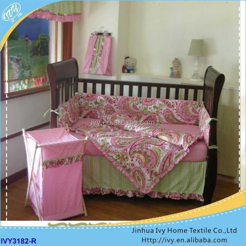 wholesale baby bedding sets ribbon embroidery bed cover