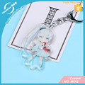 Vograce Acrylic Charms OEM Custom Printed Acrylic Keychain Make Your Own Clear Epoxy Cover Anime Charm