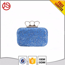 Hot Selling bling bling PU leather bag luxury crystal evening clutch bags