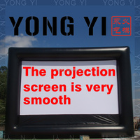 outdoor inflatable screen , rear projection inflatable movie screen