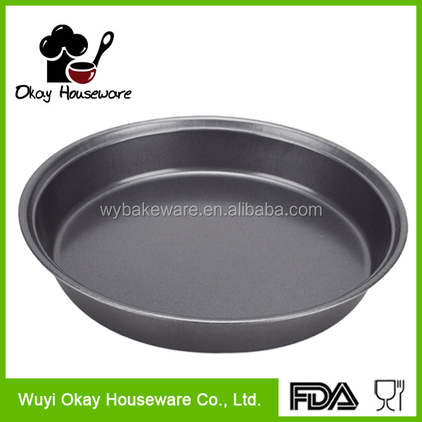 Non-stick Carbon Steel Round Oven Pizza Tray baking Pan(BK-D2006)