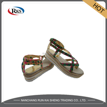 latest strap flat sandals for ladies pictures