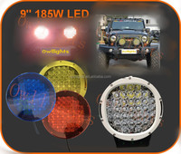 2015 new cars auto parts Super Bright!!! head lamps 9 inch 185w LED Driving Light 185w LED spot lights ,4x4 led spot lights