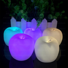 Hot Sale Little for Apple Shape LED Night Light Novelty Lamp Changing Colors Xmas Home Decor Great Gift Christmas Lights Lamps