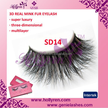 Top Quality Natural-looking Soft 3D Real Mink Fur Eyelashes