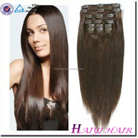 "Full head Set 150g 18inch Clip In Human Hair Extension, Indian Remy wholesale 200 grams blonde weaves 24"" clip in hair"