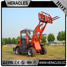 Heracles track yard tractor rear loader