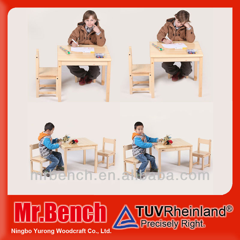 solid wood table and chairs furniture for kids reading and writing