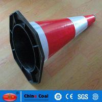 Cheap PE road warning flexible reflective traffic cone for sale
