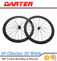 23mm wide 700C 38mm clincher carbon road bike wheels