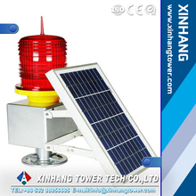 XH-122B solar power LED aviation obstruction light for telecom tower and airport