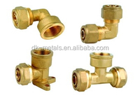 Brass pipe fitting, small fitting parts, connector joint
