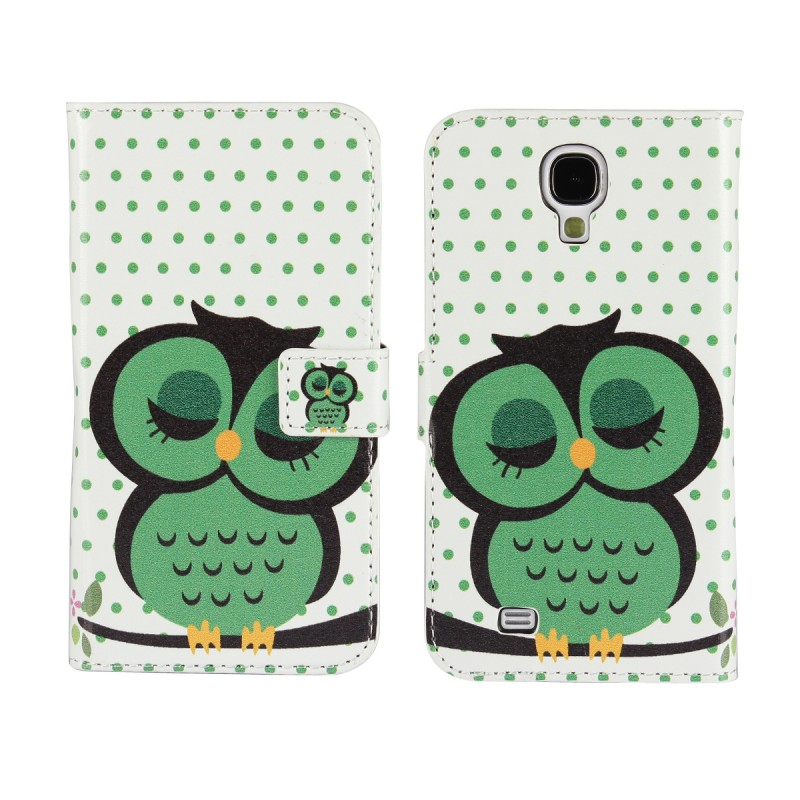 For Cases Samsung Galaxy S4 S 4 Flip Wallet Cover Phone Case Mobile Leather Bag Coque Etui Promotion Price Cute Owl