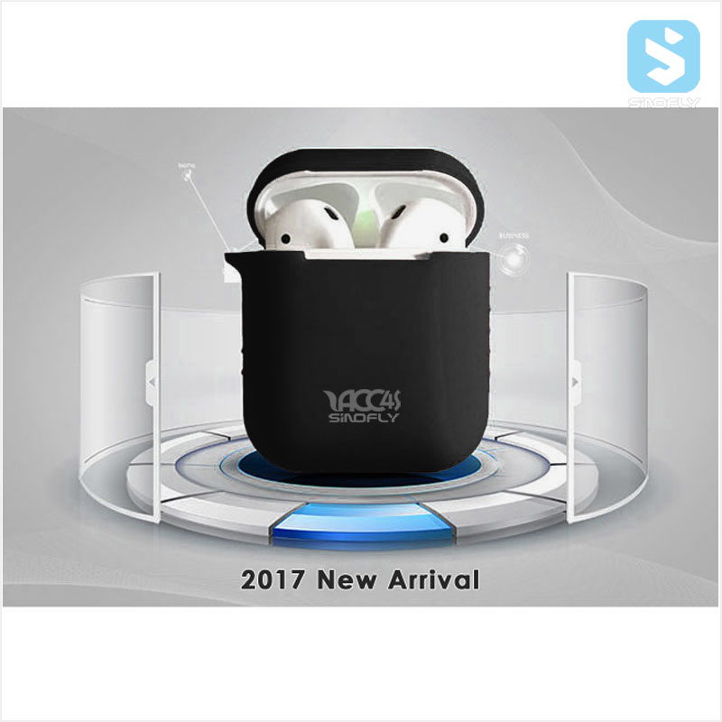 2017 Newest Protective Silicone Cover and Skin for Apple Airpods Charging Case with Free Strap