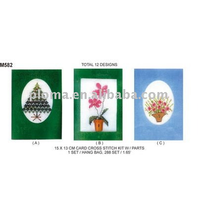 M582 CARD CROSS STITCH KIT