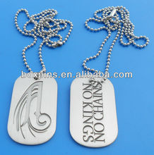personalized engraving logo metal dog tag necklaces