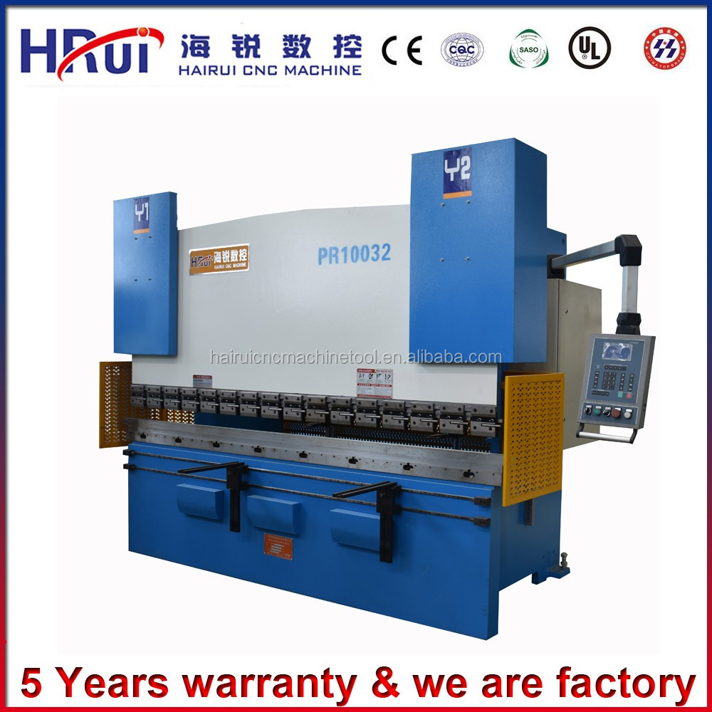 Prefect design hydraulic four cylinders press brake machine for WC67Y - 160 X 4000 with CE SGS certification