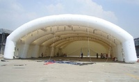 Giant white inflatable wedding tent, large infaltable tunnel tent for party