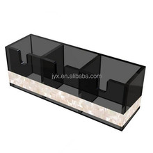 Fashion style 3 divided acrylic tea box holder for desktop