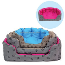 Wholesale Cotton Luxury Pet Bed For Dog With Paw Print