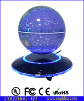 Magnetic levitating rotating illuminated globe 6 inch