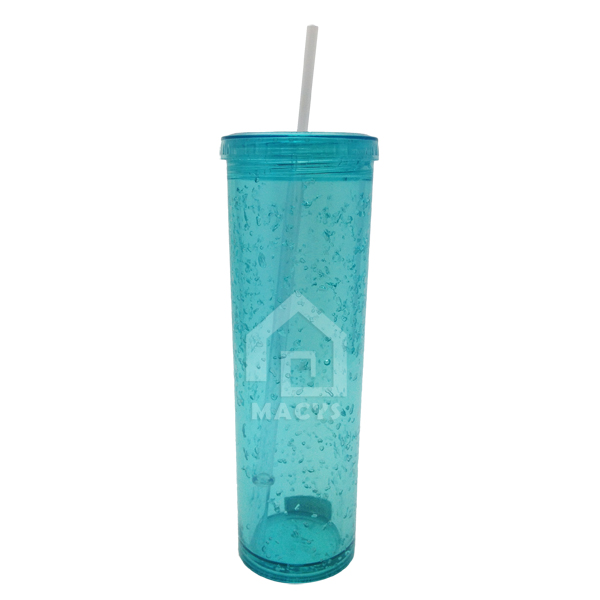 450ml plastic ice coffee drink mug with straw