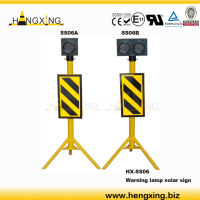 Signal series: SS06 reflective solar panel traffic warning sign, with bright LED warning lamp
