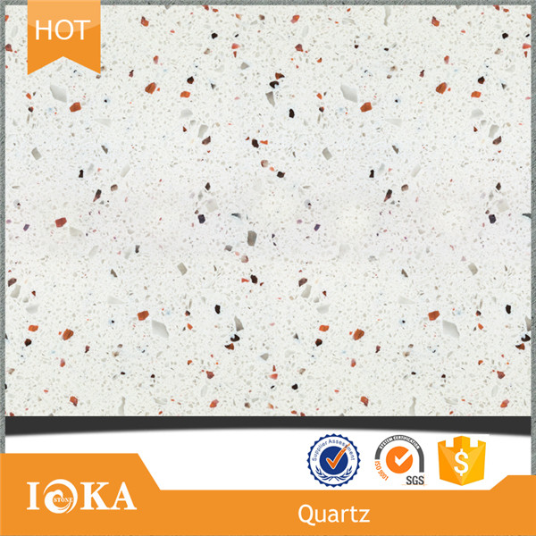 Colorful Quartz Stone, Crystal White Sparkle quartz slabs for Sale