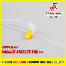 PE plastic cheap zipper colorful vacuum bag zip