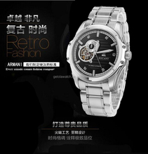 In stock hot men style mix color cheap mens chain watch