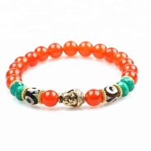 Fashion women yoga jewelry gold buddha gemstone bracelet