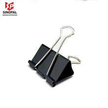 Small MOQ High quality black nickle metal binder clip in different sizes