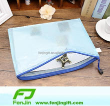 wholesale plastic mesh zipper document bag