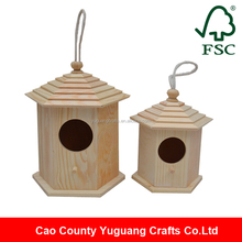 Top quality handmade wooden bird house, decorated wooden bird houses