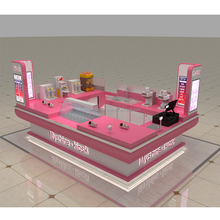 New 3D design mall food kiosk of tea kiosk