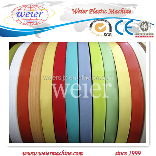 PVC plastic edge band extrusion machinery for furniture edgeband