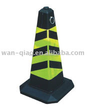 Rubber Traffic road safety product with reflective tape