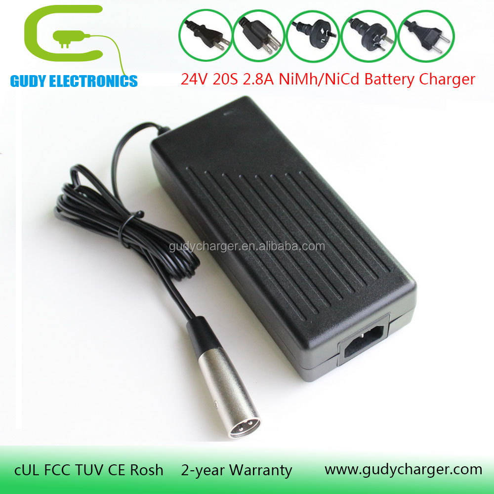 24V NiMh NiCd battery charger for 20 cells NiMh NiCd battery packs