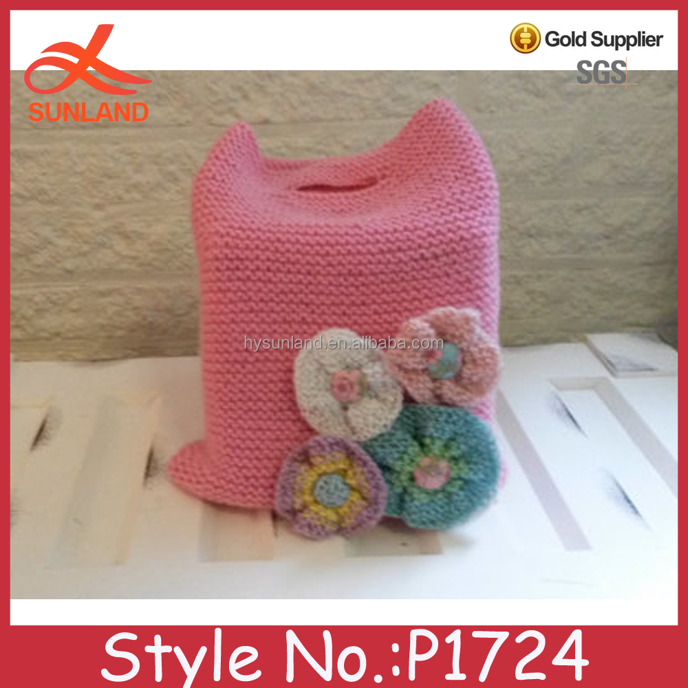 P1724 hot sale fashion crochet knitted pouch young grils fancy bags wholesale