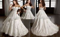 Most PoPular Sweetheart Neck Floor -length Ball Gown Wedding Dress MLW-401