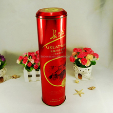 Gift package box round wine tin container