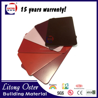 5mm red serier acp/wall decoration metal/Aluminium Composite Panel