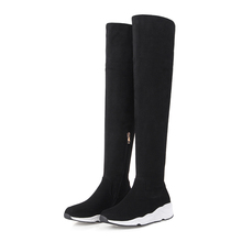 sports style elastic shaft cowhide half calf womens shoes and boots