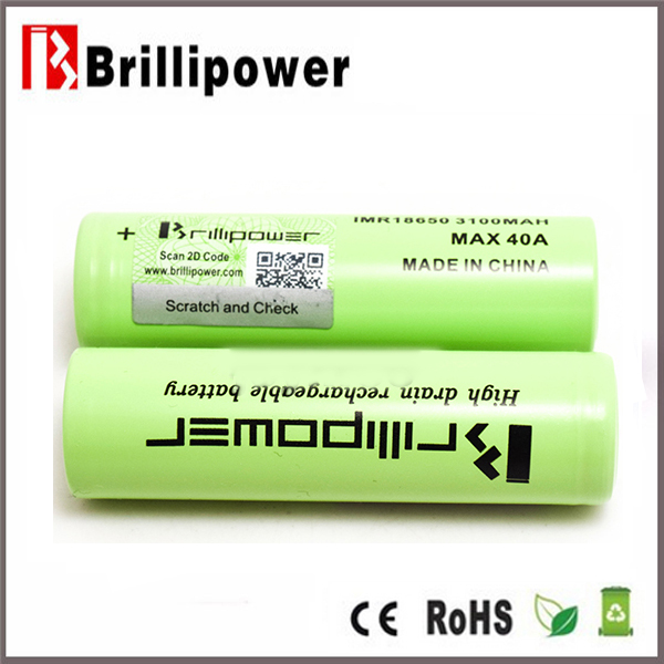 Hot sale best price brillipowe 3100mah 3.7v for aw imr 18650 rechargeable battery