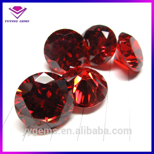 3mm-30mm Colorful Cubic Zirconia In Stock Round Shape Artificial Diamond Stones CZ Painting