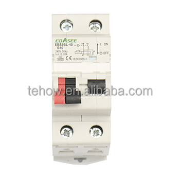 Tehow new type 100mA 4P elcb plug circuit breaker
