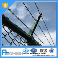 Diamond Wire Mesh & Rhombic Wire Mesh Hot-dipped Galvanized Chain Link Fence.