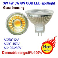 Alibaba express glass ac / dc 12v mr16 led spot light 300 400lm 450lm cob 3w 5w spotlight