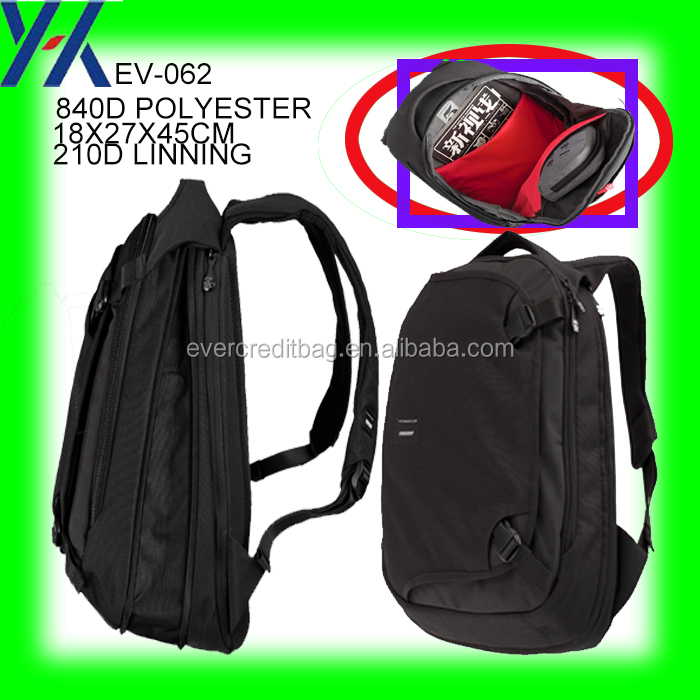 840D polyester computer kipl travel black backpack bag in china